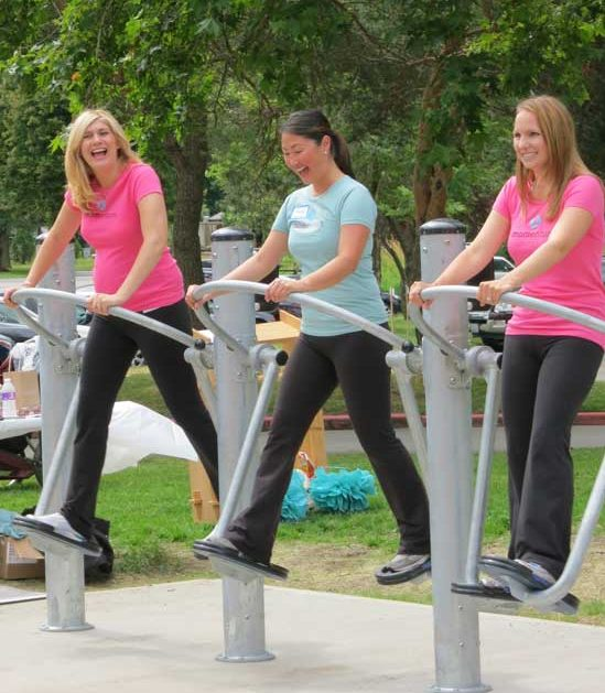 Commercial park and playground fitness equipment
