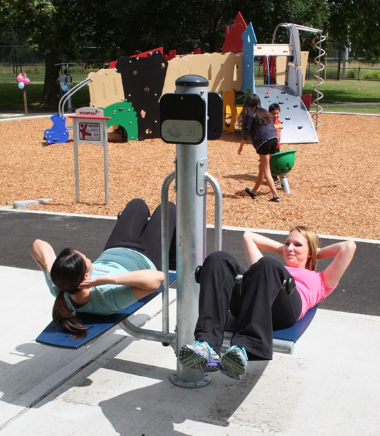 Playground equipment for fitness