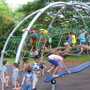 KHON Covers the new Honolulu Zoo Playground