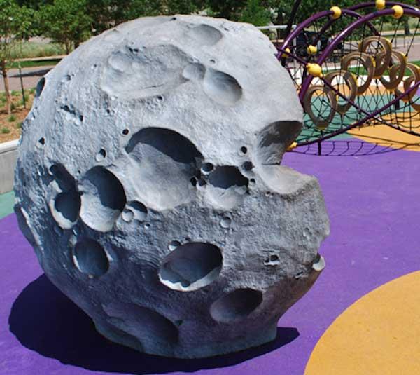crater moon rock sculpture playground equipment