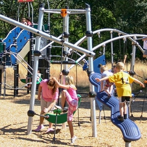 Climbing structures and playground equipment