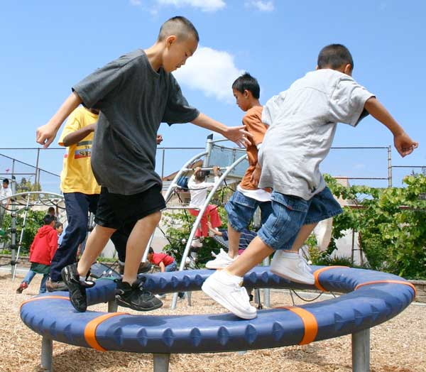 stand up spinning playground equipment