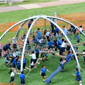 Large scale play structures for school playgrounds