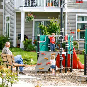 Safe toddler playgrounds for daycare center or apartment complex