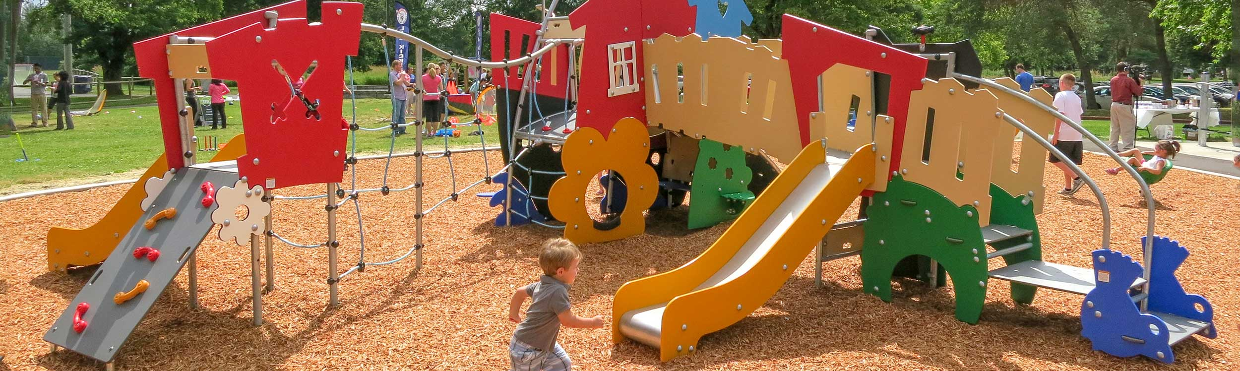 Safe and durable modern playground equipment for toddlers and pre-schoolers