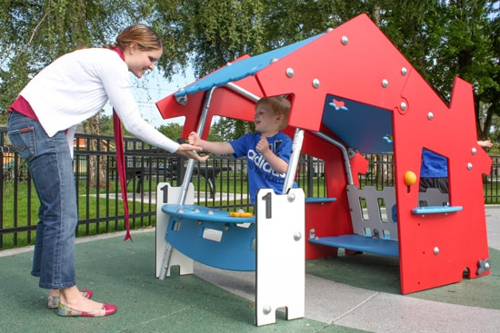 Play structures forpre-school age parks and playgrounds
