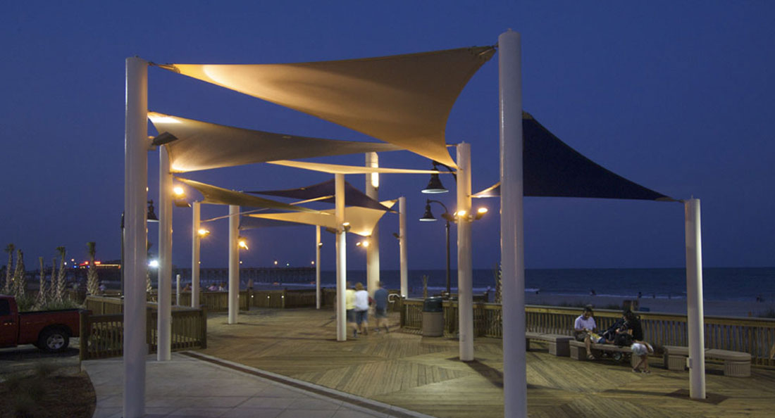 Beautiful shade structures for commercial parks and recreation areas