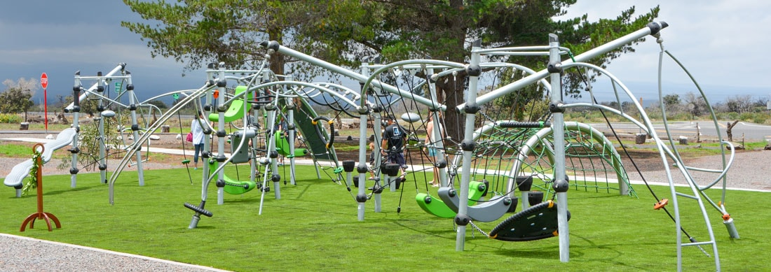 Park equipment for play areas manufactured and designed by KOMPAN playground equipment