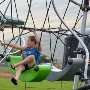 Highwire playground equipment