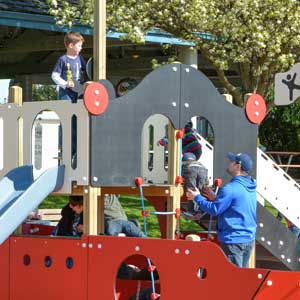Public park play equipment