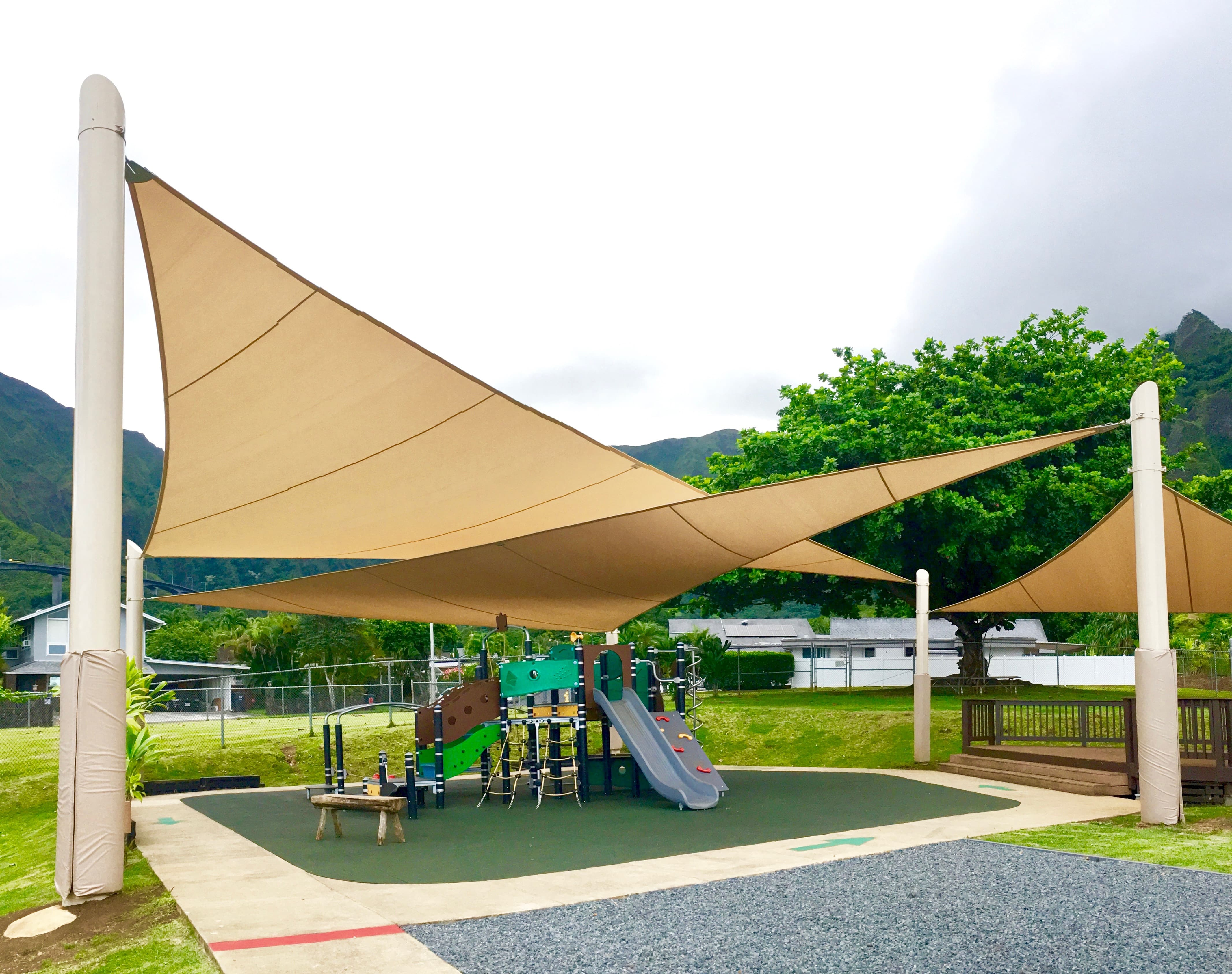 Park furnishings shade structures playground equipment for Shade structures